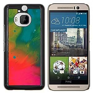GIFT CHOICE / Teléfono Estuche protector Duro Cáscara Funda Cubierta Caso / Hard Case for HTC One M9Plus M9+ M9 Plus // Pintura Wallpaper Petróleo Neon Art Dibujo //