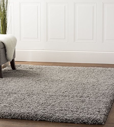 5x8 Area Rugs Amazon: Gray Shag Rug, 5-Feet By 8-Feet, 5x8 Solid & Thick Stain