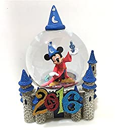 Walt Disney World 2016 Sorcerer Mickey Mouse and Castle Snow Globe Snowglobe NEW