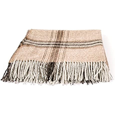 LinenMe Bella Square Throw 53 X 79 Brown