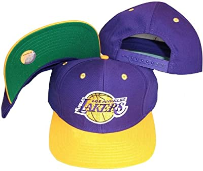 SLD Of The Adidas Group Los Angeles Lakers Purple/Gold Two Tone Snapback Adjustable Plastic Snap Back Hat/Cap by SLD Of The Adidas Group