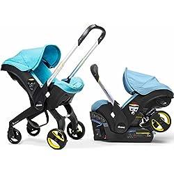 Doona Infant Car Seat Stroller-Sky + Raincover & Snap-on Storage