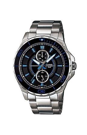 Casio MTD1077D-1A1V - Reloj analógico multifunción de Acero ...