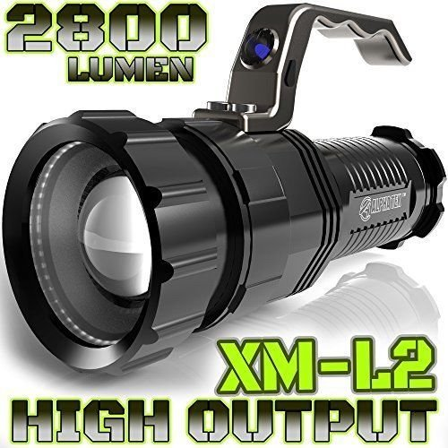 2800 LUMEN | HIGH OUTPUT | RECHARGEABLE | ZOOMABLE Floodlight to Spotlight | X-Lamp XM-L2 CREE LED (20% Brighter Than T6 LED) TACTICAL FLASHLIGHT | (NO Battery Included)
