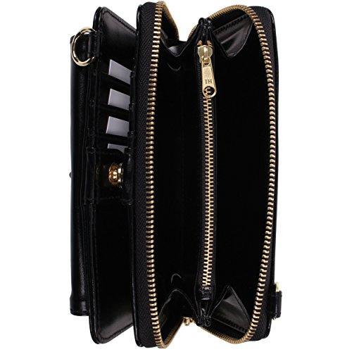 Smart Wallet Premium Cover Clutch Venice Black White VanGoddy Women's Wristlet SvRwB
