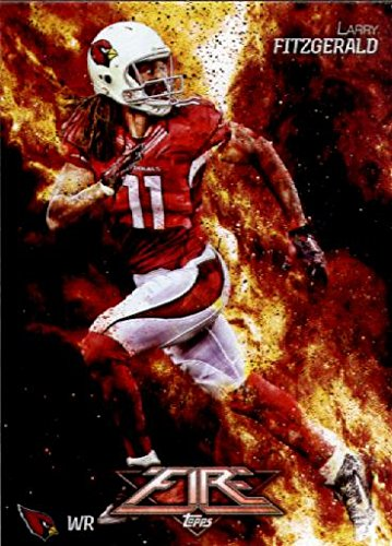 2014 Topps FIRE Football Card #51 Larry Fitzgerald - Arizona Cardinals MINT (Cardinals Card Football)