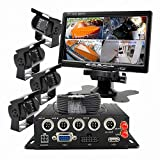 """Product review for Wen&Cheng 4CH Mobile AHD DVR 3G GPS Realtime Video/Audio Recorder with Remote Control + 4 pcs Waterproof 18 IR LED HD Camera + 7"""" TFT LCD Color Monitor + 4pcs Cables Surveillance Kit"""