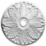 Focal Point 24 Inch Diameter Ceiling Medallion Regency Primed White Polyurethane 80524