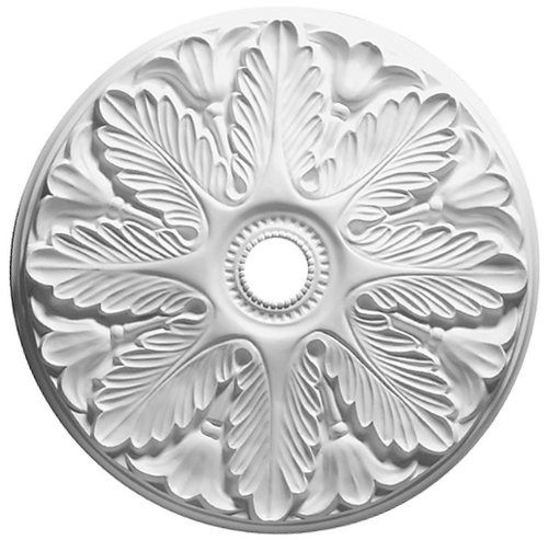 Focal Point 24 Inch Diameter Ceiling Medallion Regency Primed White Polyurethane 80524