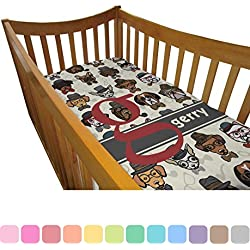 Hipster Dogs Boy's Crib Comforter / Quilt (Personalized)