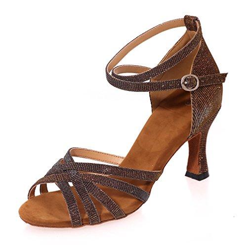Plus Sandals Femmes Pour brown Multi Chaussures Couleur Couleurs De Open êTre Danse Peuvent YC De Latine L Toe PersonnaliséS UwvAqzfA