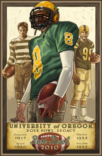 Northwest Art Mall University of Oregon Rose Bowl Traditions Unframed Prints by Paul A Lanquist, 11-Inch by - Park University Mall