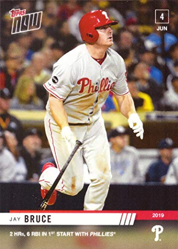 - 2019 Topps Now #328 Jay Bruce Baseball Card - 1st Official Philadelphia Phillies Card - Only 443 made!