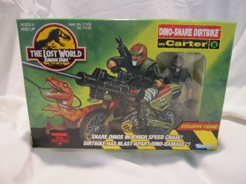 Jurassic Park The Lost World Dino-Snare Dirtbike with Carter