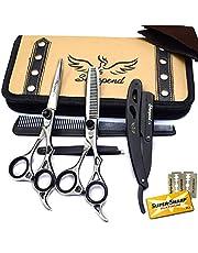 Professional 6.5 inch Hair Cutting Scissors Thinning Teeth Shears Set Sharpend Barber Hairdressing Scissors set Salon Razor Edge Scissor Japanese Stainless Steel 6.5 inch