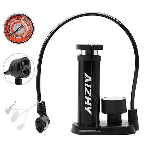 Aizhy Bomba de Bicicleta, Mini Bomba portátil de neumáticos de ...