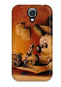 ClaudiaDay BKdXIET6197BXmsj Case Cover Galaxy S4 Protective Case Mickey Mouse Black White
