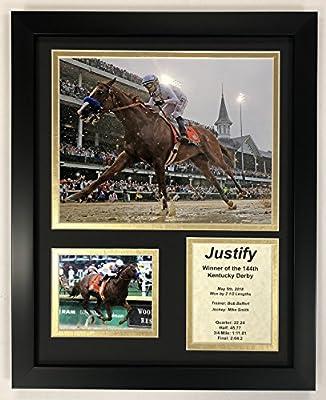 "Legends Never Die Justify - 2018 Kentucky Derby Winner - Framed 12""x15"" Double Matted Photos"