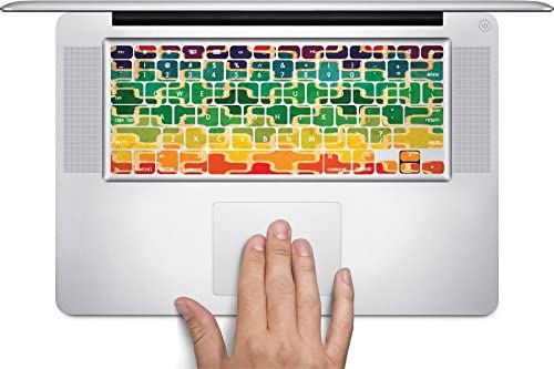 Plus Sign Rainbow Art Keyboard Decals by MWCustoms for 11 inch MacBook Air