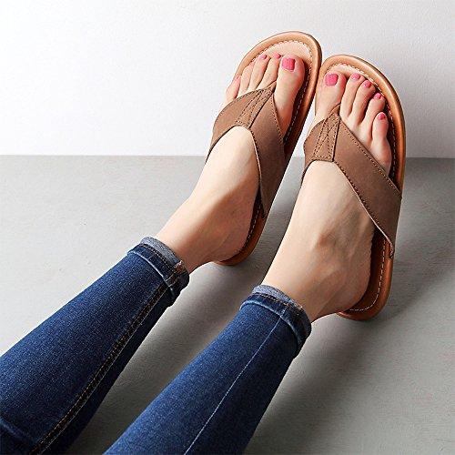 Sandalias Ajzgf Brown Cuñas Moda Femenina Mujeres Light Zapatos Verano Playa Chanclas De Fuera Con gXFgqW
