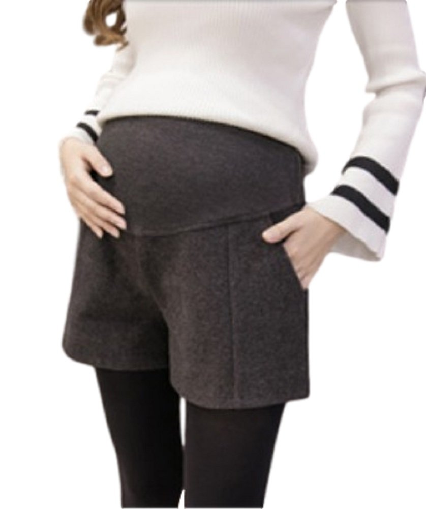 [O-Tokyo] for Pregnant Woman/Fashionable Maternity Shorts Extender/Plus Size (XXL, Charcoal Gray)