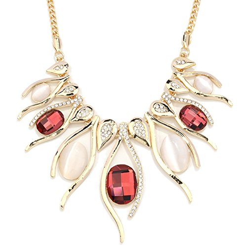 NL-12014C3 2016 Alloy Europe Pear Inlaid Crystal Women's Necklace (Adult African King Costume)
