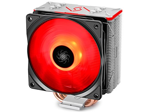 DeepCool RGB CPU Cooler 4 Heat Pipes 120mm RGB Fan Universal...