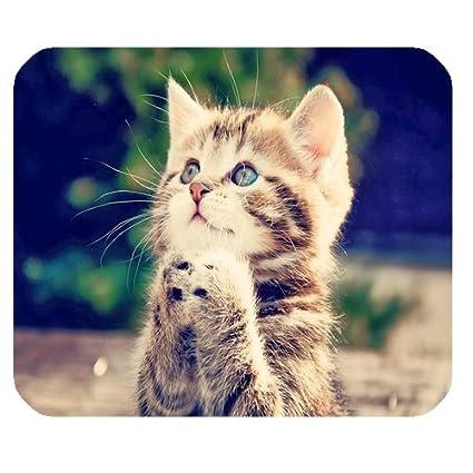 Nuevo estilo, diseño de gatos y gatitos de rezando alfombrilla antideslizante ordenador portátil ratón Pad