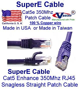 BLACK FRIDAY SALES   UTP Cat5 Patch Cable 10 Ft, (100% Copper 24Awg