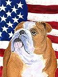 Cheap Caroline's Treasures SS4017CHF USA American Flag with Bulldog English Flag Canvas, Large, Multicolor