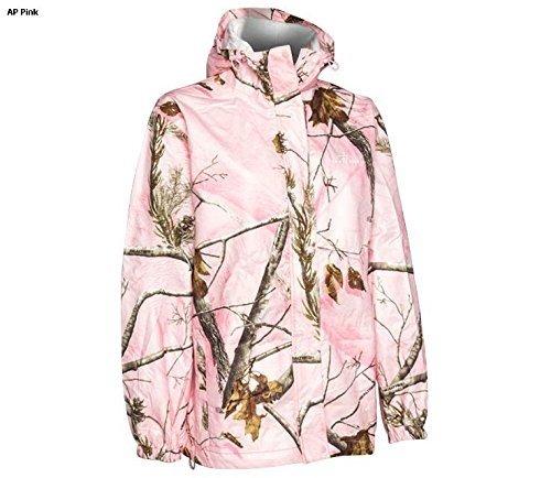 Realtree Storm Seeker AP Pink Camo Zip Up Hoodie Rain Jacket Size Sm/Med or L/XL (Lg/XL) (Womens Camo Rain Coats)