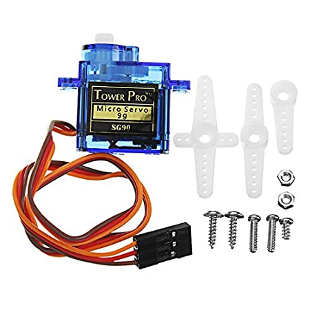 ROUHO Kittenbot 23X12.2X29Mm Sg90 9G Mini Servo with 25Cm Wire for Smart Robot Car