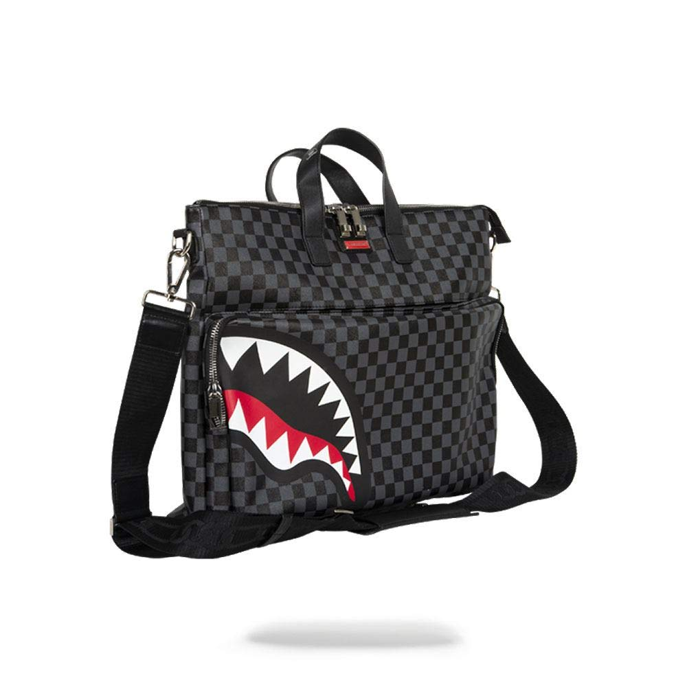 Sprayground Sharks in Paris Travelcase Black Checker