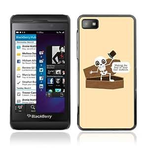 iKiki-Tech Estuche rígido para Blackberry Z10 - Funny Bad Situation Skeleton