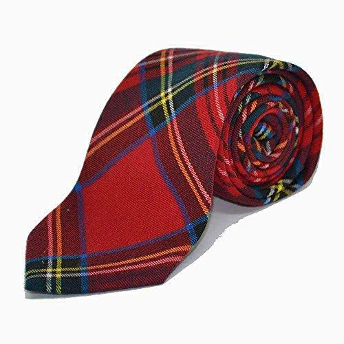 Traditional Red Tartan Check Tie, Necktie, Scotland, Highland, Scottish, Stewart (Tartan Tie Stewart)