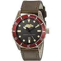 Armani Exchange AX1712 Men's Brown Leather Quartz Dress Watch