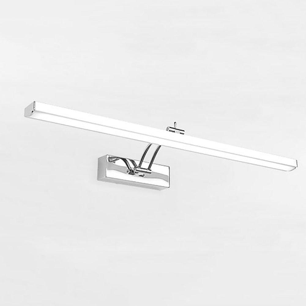 LJHA jingqiandeng LEDステンレス鋼防水霧ミラーフロントライトバスルームミラーキャビネットライトバスルームメイクアップライトキャップランプ回転可能なウォールランプ (色 : 暖かい光, サイズ さいず : 70CM-12W) B07L3P9VFT 70CM-12W 白色光 白色光 70CM-12W