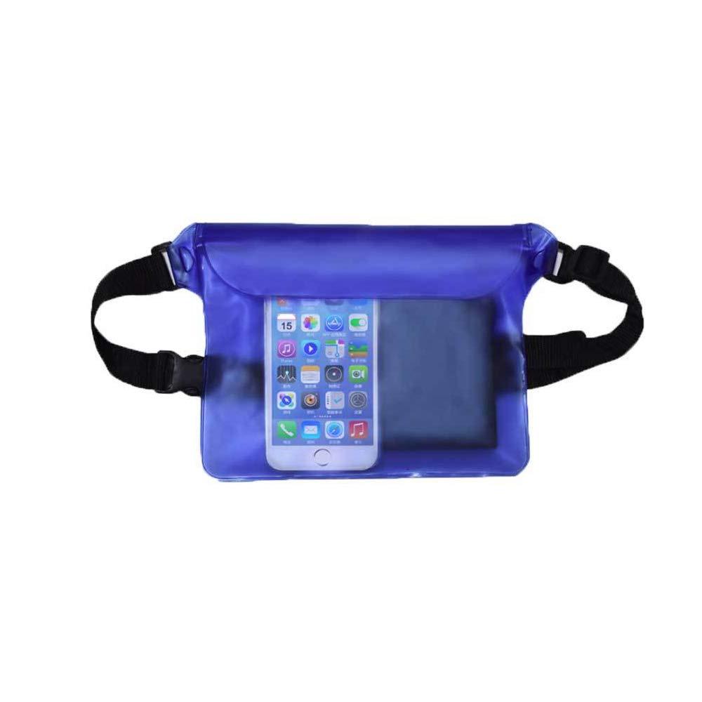 Potelin 防水ポーチ バッグ ケース ウエストストラップ 水泳 ボート カヤック ハイキング など - iPhone iPad 携帯電話 カメラ 現金 Mp3 パスポート 書類を水埃や汚れから保護   B07MTZKGJW