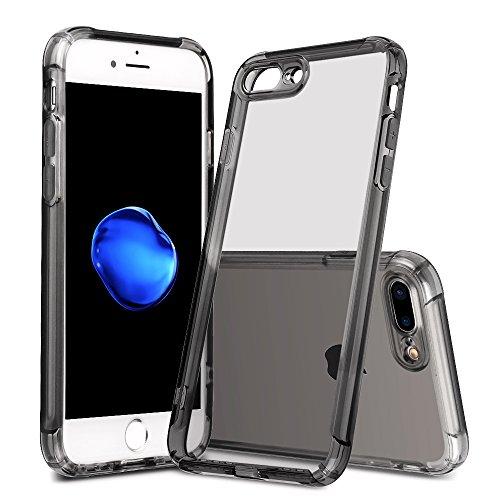 iPhone 8 Plus case, iPhone 7 Plus case, LABILUS (Sound Conversion Series) TPU Soft Clear Cover Case with Air Cushions for iPhone 8 Plus (2017), iPhone 7 Plus (2016) - Black