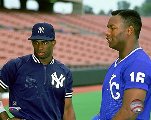 Deion Sanders & Bo Jackson MLB Action Photo (Size: 8