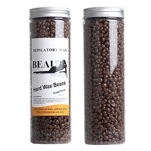 Bluezoo dépilatoire perle dur cire / brésilien Granules de café chaud Film cire perle pour cheveux Removal(stripless), 400g