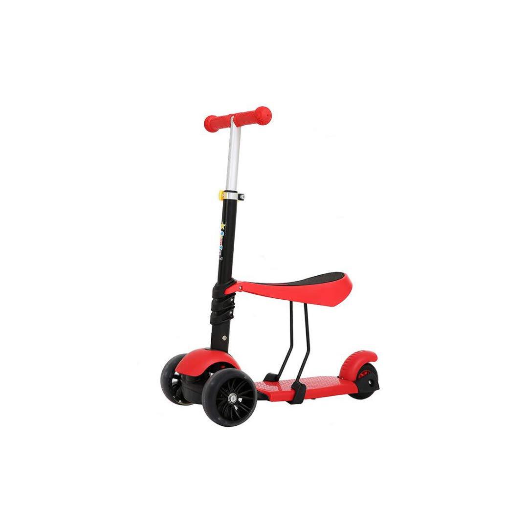 結婚祝い TLMYDD : 子供のスクーターPUフラッシュワイドホイールはスリーインワンスクーターバランス車を座ることができます (色 子供スクーター (色 : Red) B07NMSKJYT Red) Red, アベイルコマドリ(生地毛糸):11e3902c --- a0267596.xsph.ru