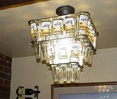 Charming message Beer bottle chandelier