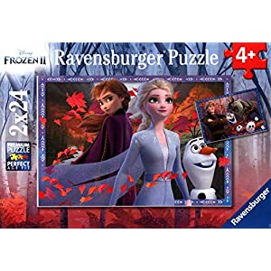 Ravensburger Disney Frozen 2 Frosty Adventures 2 X 24 Piece Jigsaw Puzzle for Kids – Value Set of 2 Puzzles in a Box…