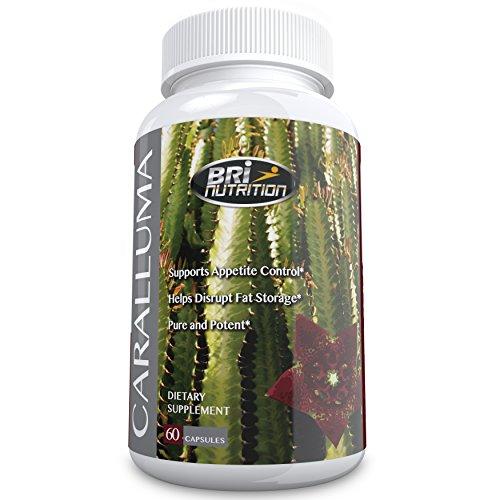 Extrait Les meilleurs Caralluma fimbriata - 100% Satisfait ou Remboursé - Fabriqué De pur Indien Caralluma Herb, excellent pour la santé, brûler les graisses et aide à la perte de poids, l'approvisionnement de 30 jours, 60 comprimés Gélules Par BRI Nutrit