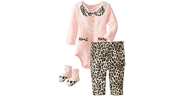 Vitaminas Baby Baby-Girls recién nacido All Dressed Up 3 Pieza enredadera Pant Set, Rosa, 9 meses Color: Rosa Tamaño: 9 Meses: Amazon.es: Bebé