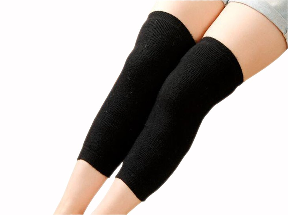 Cashmere Wool Unisex Women Men Winter Leg Warmer Breathable Elastic Knee Brace Thigh High Knee Pad Knee Warmer Sports Outdoor Support Knee Sleeves Rimandy