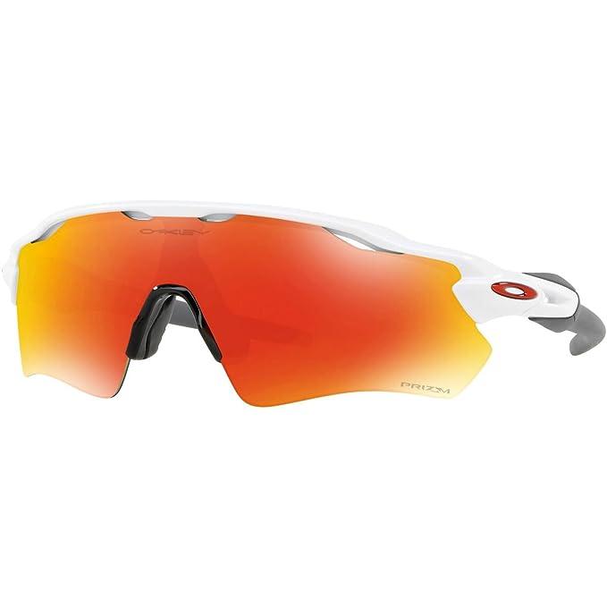 Oakley Radar EV Path - Gafas de Sol, Hombre, Blanco (Polished White/Ruby), talla del fabricante: 38