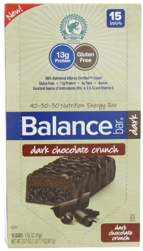 Balance Bar Dark Chocolate Crunch Bar, 15 comte