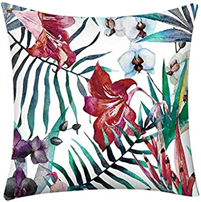 Amazon.com: XIMOMO Square Pillowcase Watercolour Cushion ...